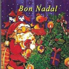 Postales: FELICITACION NAVIDAD * PAPÁ NOEL ADORNANDO EL ARBOL *. Lote 224710897