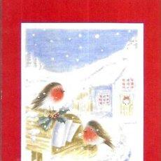 Postales: FELICITACION NAVIDAD * PAJARITOS SOBRE EL BUZÓN DE CARTAS *. Lote 295819948