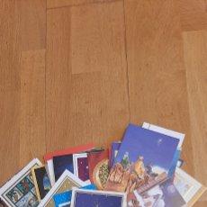 Postales: 52 FELICITACIONES NAVIDAD PINTADAS CON LA BOCA Y CON EL PIE. Lote 224875481
