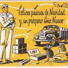 Cartes Postales: POSTAL DE FELICITACION DE EL REPARTIDOR LES DESEA FELICES NAVIDADES (NAVIDAD-CHRISTMAS). Lote 225356365