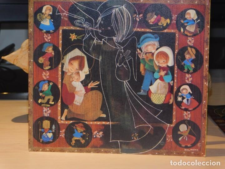SALMONS POSTAL DÍPTICO DE NAVIDAD GRÈVOL 6197. 17 X 15 (Postales - Postales Temáticas - Navidad)