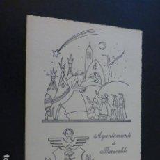 Postales: FELICITACION NAVIDAD AYUNTAMIENTO ALCALDE DE BARACALDO VIZCAYA BANDERA DE ESPAÑA EN TELA. Lote 226759955