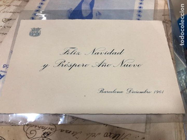 FELICITACIONES DE NAVIDAD Y AÑO NUEVO DEL C.F.BARCELONA AÑO 1961 (Postales - Postales Temáticas - Navidad)