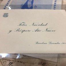 Postales: FELICITACIONES DE NAVIDAD Y AÑO NUEVO DEL C.F.BARCELONA AÑO 1961. Lote 227593910