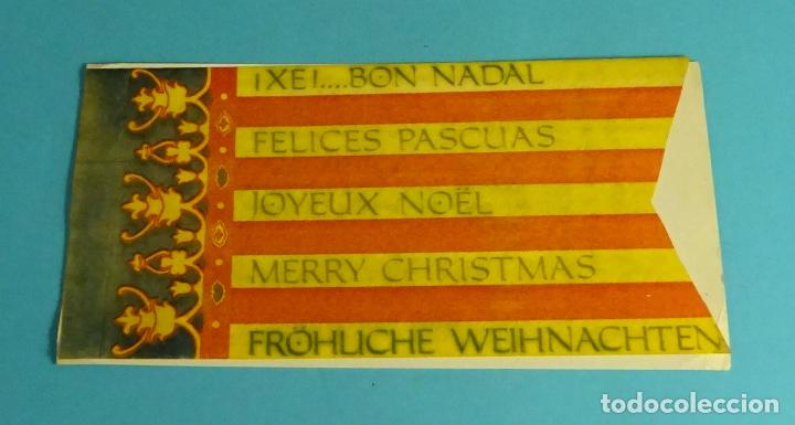 TARJETA FELICITACIÓN AÑO NUEVO FALLA PLAZA S. ARNICHES - ARQUITECTO RIBES. SEÑERA DE VALENCIA (Postales - Postales Temáticas - Navidad)