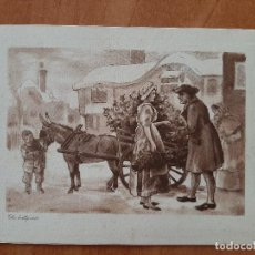Postales: 1953 POSTAL DE NAVIDAD - THE HOLLY CART. Lote 230156055