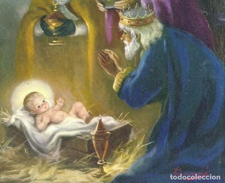 0685L -GUARNÉ - OFRENDAS DE LOS REYES MAGOS-EDICIONES SABADELL- GREVOL 6187- DIPTICA 17X15 CM (Postales - Postales Temáticas - Navidad)