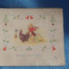 Postales: TARJETA POSTAL NAVIDAD *M. DE OLAÑETA*, - ESPANTANDO AL PAVO - PINTADA A MANO.. Lote 231027545