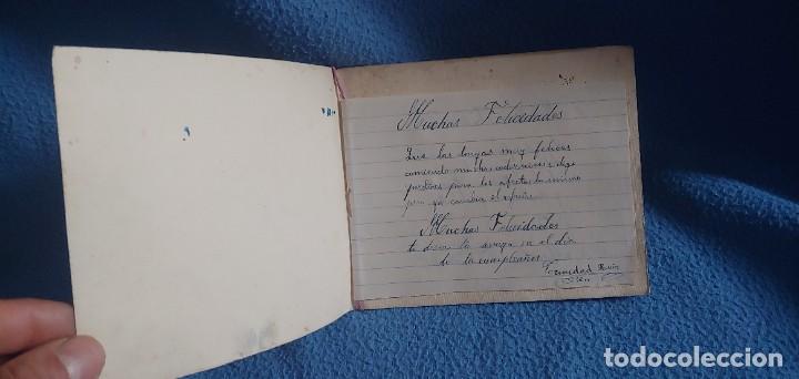 Postales: TARJETA POSTAL NAVIDAD *M. DE OLAÑETA*, - ESPANTANDO AL PAVO - PINTADA A MANO. - Foto 3 - 231027545