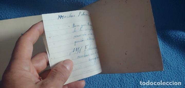 Postales: TARJETA POSTAL NAVIDAD *M. DE OLAÑETA*, - ESPANTANDO AL PAVO - PINTADA A MANO. - Foto 5 - 231027545