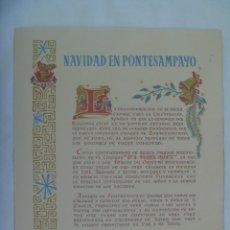 Postales: ENORME TARJETON DE FELICITACION DE NAVIDAD DE PONTESA ( CERAMICA ) 1961 . NAVIDAD EN PONTESAMPAYO. Lote 232647395