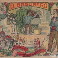 Postales: BASURERO. - TARJETA FELICITACION NAVIDAD-PASCUAS ,OFICIOS . VER DORSO. Lote 233150010