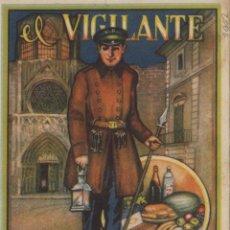 Postales: VIGILANTE / EL VIGILANT - TARJETA FELICITACION NAVIDAD-PASCUAS ,OFICIOS .. Lote 234761955