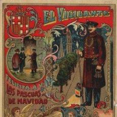 Postales: VIGILANTE / EL VIGILANT - TARJETA FELICITACION NAVIDAD-PASCUAS ,OFICIOS .. Lote 234762150