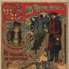 Postales: VIGILANTE / EL VIGILANT - TARJETA FELICITACION NAVIDAD-PASCUAS ,OFICIOS .. Lote 234762180