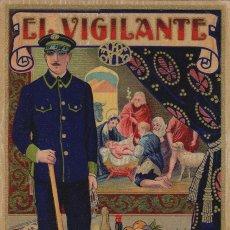 Postales: VIGILANTE / EL VIGILANT - TARJETA FELICITACION NAVIDAD-PASCUAS ,OFICIOS .. Lote 234765575