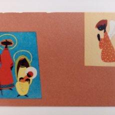 Postales: FELICITACIÓN NAVIDEÑA - PESEBRE ÁNGEL - EDICIONES GRAMONT. Lote 236789645