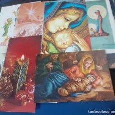 Postales: LOTE DE 30 PORTADAS DE FELICITACIONES NAVIDEÑAS DE LOS AÑOS 60. Lote 238049105