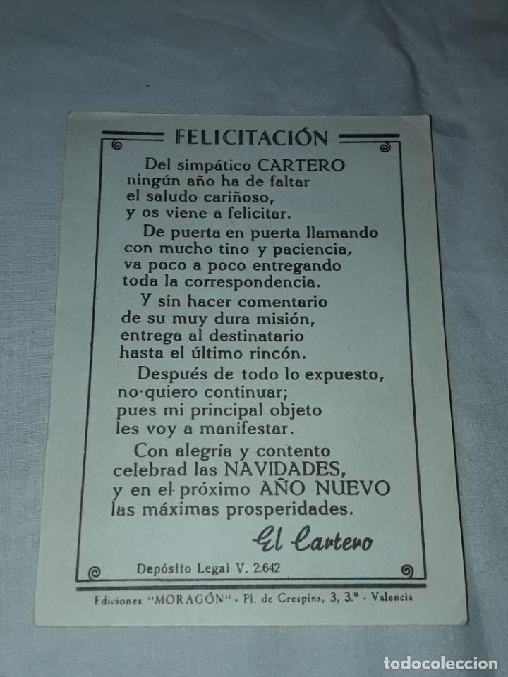 Postales: Antigua tarjeta El Cartero Les Desea Felices Pascuas y Prospero Año Nuevo - Foto 2 - 241321935