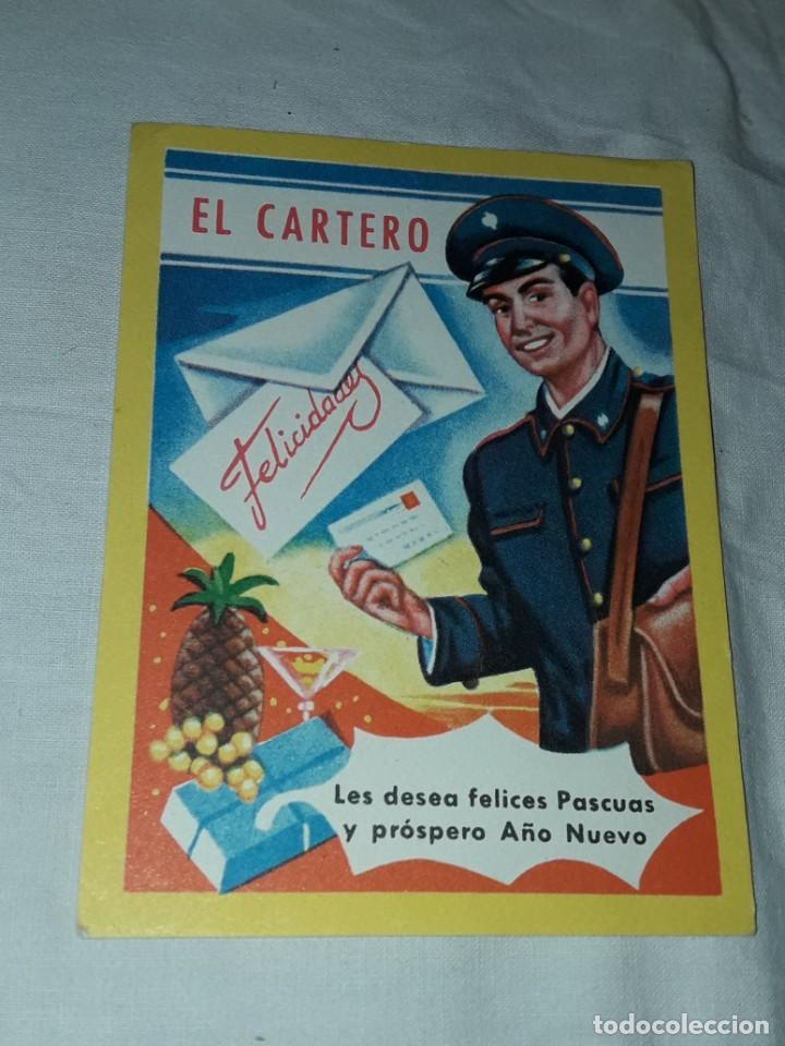 Postales: Antigua tarjeta El Cartero Les Desea Felices Pascuas y Prospero Año Nuevo - Foto 3 - 241321935