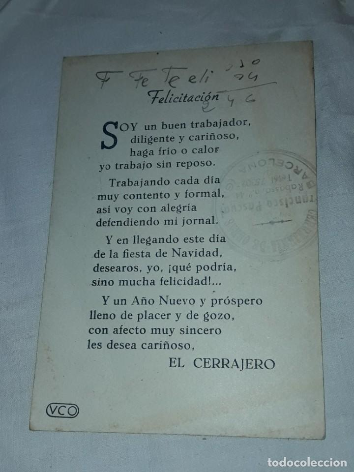 Postales: Antigua tarjeta El Cerrajero Les Felicita Las Pascuas de Navidad - Foto 3 - 241322410