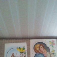 Postales: LOTE DE 2 POSTALES NAVIDEÑAS CON RELIEVE ,AÑOS 60--70.ESTAN CIRCULADAS.. Lote 241445180