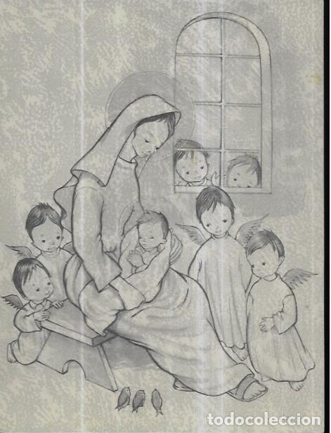 FELICITACION NAVIDAD ROSER PUIG * LA VIRGEN CON EL NIÑO CON UNOS ANGELITOS *1960 (Postales - Postales Temáticas - Navidad)