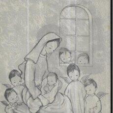 Postales: FELICITACION NAVIDAD ROSER PUIG * LA VIRGEN CON EL NIÑO CON UNOS ANGELITOS *1960. Lote 244529700
