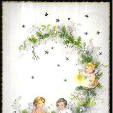 Postales: POSTAL NAVIDAD * ANGELITOS SOBRE UNA RAMA *. Lote 244530130