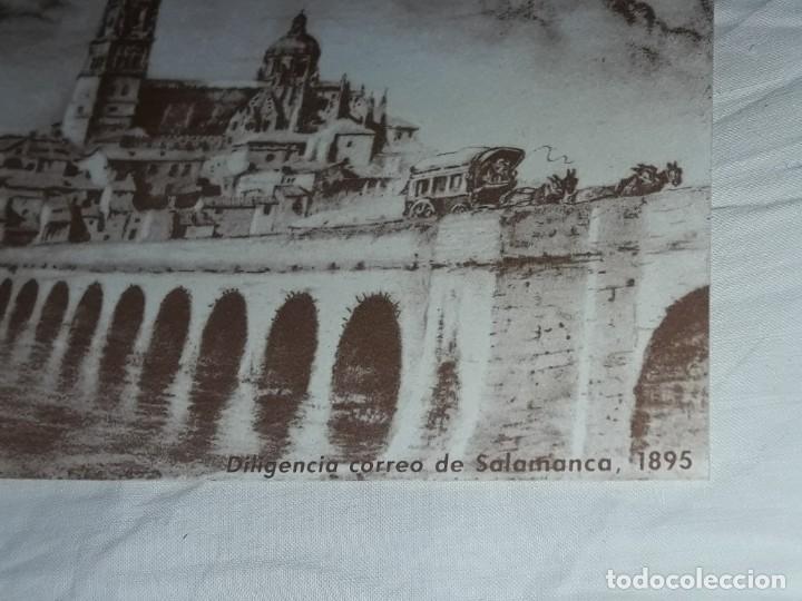 Postales: Antigua postal felicitaciones diligencia correos Salamanca año 1895 primer centenario 1889 - 1989 - Foto 2 - 252079865