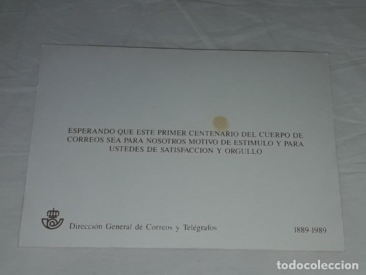 Postales: Antigua postal felicitaciones diligencia correos Salamanca año 1895 primer centenario 1889 - 1989 - Foto 4 - 252079865