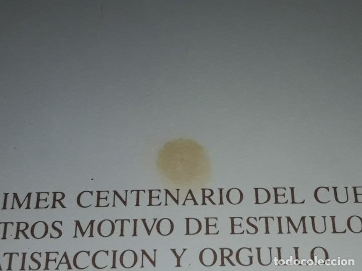 Postales: Antigua postal felicitaciones diligencia correos Salamanca año 1895 primer centenario 1889 - 1989 - Foto 5 - 252079865