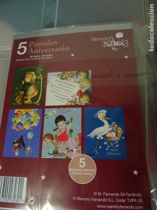 Postales: JUAN FERRANDIZ - MEMORY - 5 TARJETAS POSTALES ANIVERSARIO - Foto 2 - 252554150