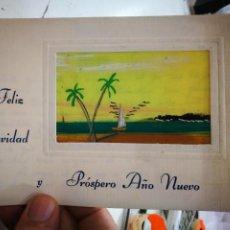 Postales: POSTAL FELICITACIÓN NAVIDEÑA ARTESANA 1970 ESCRITA. Lote 253896675