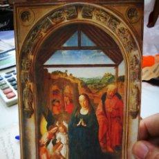 Postales: FELICITACIÓN NAVIDEÑA DIERICK BOUTS LA ADORACIÓN DE LOS ÁNGELES MUSEO DEL PRADO 2005 ESCRITA. Lote 253990150