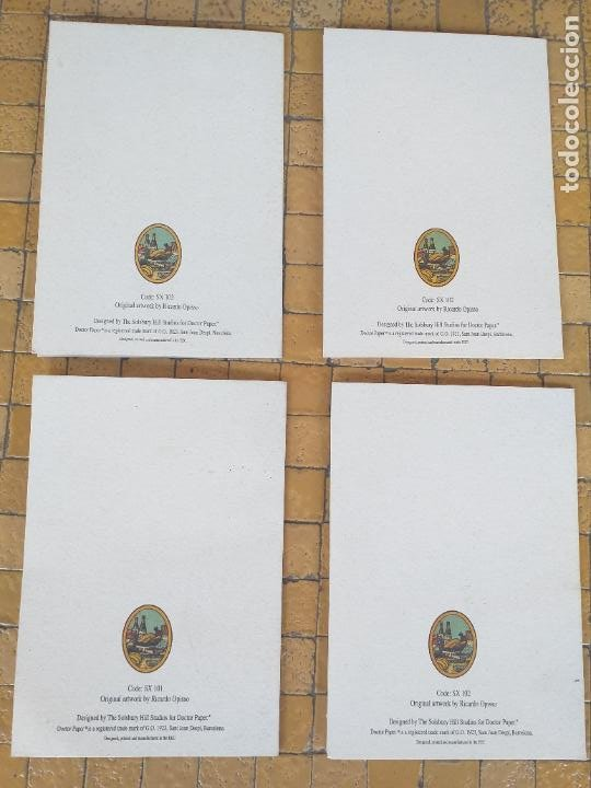 Postales: LOTE 4 FELICITACIONES DE NAVIDAD ANTIGUAS DIBUJOS DE RICARDO OPISSO - EN PERFECTO ESTADO - Foto 5 - 254456415
