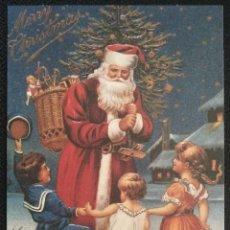 Postales: 0712Q - EDICIONES HALLMARK PX 103-1- UN SANTA MUY POPULAR- REP. 1909 - 15,3X11 CM. Lote 254491935