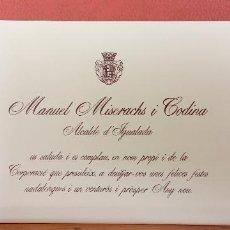 Postales: TARJETA DE NAVIDAD. ESCRITO. SENCILLA.. Lote 254724450