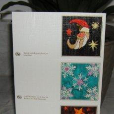 Postales: LOTE DE 3 MINI TARJETAS DE NAVIDAD ARTIS MUTI PINTADAS CON LA BOCA. VARIOS PINTORES VER DESCRIPCIÓN. Lote 254801285