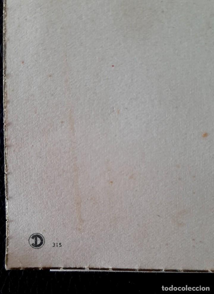 Postales: antigua postal de navidad D 315 con borde dorado - Foto 2 - 257473330