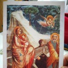 Postales: FELICITACIÓN NAVIDEÑA 1996 A.S.D.R.A. ESCRITA LA HUIDA DE EGIPTO GIOTTO 1367-1337. Lote 262103385