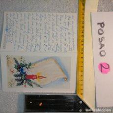 Postales: OFERTAS X LOTES FELICITACION NAVIDADEÑA POSTALES NAVIDAD Ó CHRISTMAS. DECORACION PORTAL BELEN. Lote 263611705