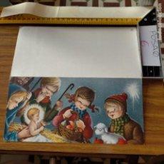 Postales: OFERTAS X LOTES FELICITACION NAVIDADEÑA POSTALES NAVIDAD Ó CHRISTMAS. DECORACION PORTAL BELEN. Lote 264574899