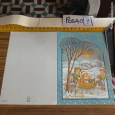 Postales: OFERTAS X LOTES FELICITACION NAVIDADEÑA POSTALES NAVIDAD Ó CHRISTMAS. DECORACION PORTAL BELEN. Lote 264693309