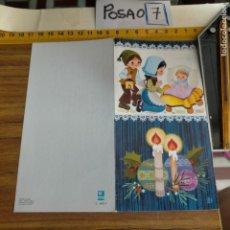 Postales: OFERTAS X LOTES FELICITACION NAVIDADEÑA POSTALES NAVIDAD Ó CHRISTMAS. DECORACION PORTAL BELEN. Lote 264695149