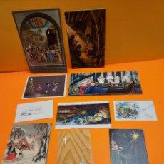 Postales: LOTE DE 10 ANTIGUAS FELICITACIONES DE NAVIDAD....AÑOS 80........ Lote 264771609
