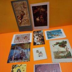 Postales: LOTE DE 10 ANTIGUAS FELICITACIONES DE NAVIDAD...AÑOS 80....2.... Lote 264817549