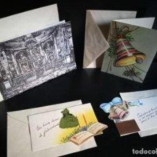 Postales: LOTE 4 FELICITACIONES NAVIDAD ANTIGUAS - CONFITERÍA FANTOBA. Lote 267546434