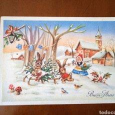 Postales: ANTIGUA POSTAL FELICITACIÓN AÑO 1959. IMPRESA EN ITALIA. ESCRITA.. Lote 268037489