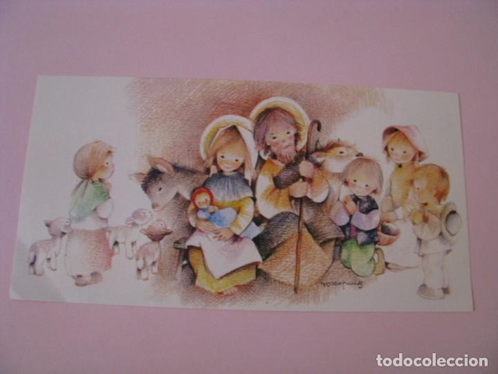 POSTAL DIPTICA DE IL. ROSER PUIG. ED. SABADELL AVET. 02.03.103.2. 16,5X8,5 CM. SIN CIRCULAR. (Postales - Postales Temáticas - Navidad)